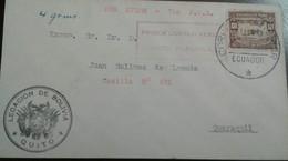 O) 1929 CIRCA-ECUADOR,PLANE OVER RIVER GUAYAS SC C10 10c-FIRST AIR MAIL-ESTABLISHMENT OF COMMERCIAL AIR SERVICE. VIA P.G - Ecuador