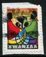 VERINIGTE STAATEN ETATS UNIS USA 2011 KWANZAA F USED ON PAPER SC 4584 MI 4770 YV 4420 SG 5185 - Etats-Unis