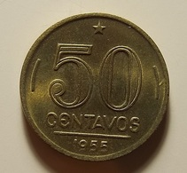 Brazil 50 Centavos 1955 - Brésil