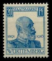 WÜRTTEMBERG DIENST Nr 245 Postfrisch Gepr. X70C252 - Wurttemberg