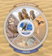 Guinea Bissau 2016  Fauna  Owls - Guinée-Bissau