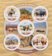 Guinea Bissau 2016  Fauna  Rhinos Rhinoceros - Guinée-Bissau