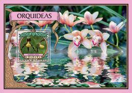 Guinea Bissau 2016  Orchids Flowers - Guinée-Bissau