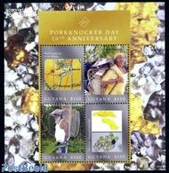 Guyana 2010 Porkknocker Day 4v M/s, (Mint NH), History - Geology - Science - Mining - Various - Maps - Geography