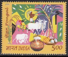 India MNH 2006, Pongal Festival, Rice Festival, Cow, Bannana Coconut Fruit, Agriculture, Sugarcane, Pottery, - Inde