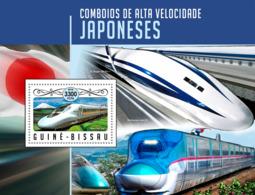 Guinea Bissau 2016 Japanese Speed Trains - Guinée-Bissau