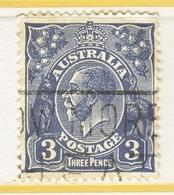 Australia 72b   Perf 14  (o)   Wmk 203  (SG 7)  1926 Issue - 1913-36 George V : Têtes