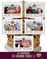 Guinea Bissau 2016 Queen Elizabeth II, Pope John Paul II, Mandela - Guinée-Bissau