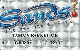 Sands Casino - Atlantic City, NJ - Plain Front Slot Card With WHITE Reverse - Casino Cards