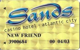 Sands Casino - Atlantic City, NJ - Temp Slot Card - NEW FRIEND - Casino Cards