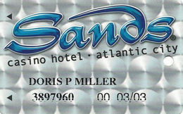 Sands Casino - Atlantic City, NJ - Slot Card - Casino Cards