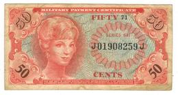 U.S.A. Military Payment Certificate, 50 Cents, Series 641, VF. - Military Payment Certificates (1946-1973)