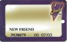 Sands Casino - Atlantic City, NJ - Temp Slot Card With NEW FRIEND - Casino Cards