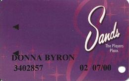 Sands Casino - Atlantic City, NJ - Slot Card With 25th Anniversary Logo On Back - Casino Cards
