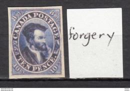 ##30, Canada, Forgery, Jacques Cartier - 1851-1902 Règne De Victoria