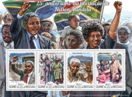 Guinea Bissau 2015  25th Anniversary Of The Liberation Of Mandela - Guinée-Bissau