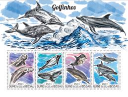Guinea Bissau 2015  Dolphins Fauna - Guinée-Bissau