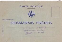 77 MEAUX - Carte Postale De Commande AZUR - DESMARAIS FRÈRES, 25bis Bd Jean Rose - 2 Scans - Meaux