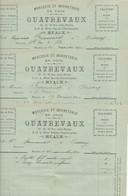77 MEAUX - Lot De 3 Factures Pour Mr FRANCOURT à OISSERY, De La Mercerie QUATREVAUX, 16 Rue Saint-Nicolas - Meaux