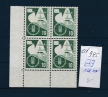 BRD Nr. 4x 168 **   (ed985  ) Siehe Scan-vergrößert - [7] République Fédérale