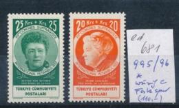 Türkei Nr. 995-6  *    (ed681   ) Siehe Scan - 1921-... République