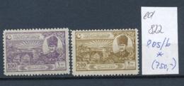 Türkei Nr.  805-6  *   (ed822   ) Siehe Scan - 1921-... République