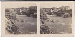 64----BIARRITZ---le Port Vieux Pris Du Rocher De La Vierge--voir Scan - Stereoscopic