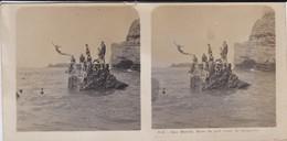 64----BIARRITZ---bains Du Port Vieux--le Plongeoir--voir Scan - Stereoscopic