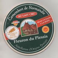 CAMEMBERT FLEURON DU PLESSIS ( MEDAILLE D OR PARIS 2018 ) FROMAGERIE DU PLESSIS SAINT LOUP DE FRIBOIS CALVADOS - A VOIR - Cheese