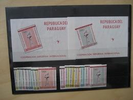 Paraguay Postfrisch 1103-10 + 1111-18 + Block 28 + Block 29 Olympic (2924) - Paraguay