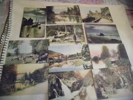 LOT DE 11 CARTES ...SERIE LES BEAUX SITES DE FRANCE...NORMANDIE ..LE CONQUET..AYDIUS..ETC.... - Postcards