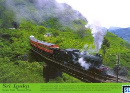 Sri Lanka Postcards, Steam Train, Nuwaraeliya, Tea, Trains, Postcrossing - Sri Lanka (Ceylon)