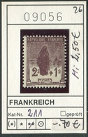 Frankreich - France - Francia -  Michel 211 - ** Mnh Neuf Postfris - - France