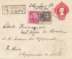 Brazil: 1910: Registered Cover - Brazil