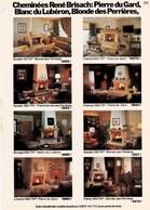Pub.1979 Cheminées René BRISACH (pierre Du Gard,Lubéron,Blonde DesPerrières,Rose Italie,granit Bretagne,grès Alsace TBEe - Publicités