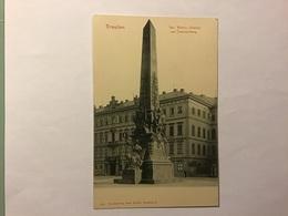 DRESDEN - Der Wettin-Obelisk Am Taschenberg. - Dresden