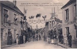 AUTHON DU PERCHE-INAUGURATION DE L'ECLAIRAGE ELECTRIQUE DE LA VILLE-ARC DE TRIOMPHE PLACE DU PONT DES BORDES - France