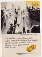 """Pub.1955 Appareils Et Films KODAK PLUS-X   """" Les  Taureaux Sont Lâchés-devant Vous...grâce à La Photo. """" TBE - Publicités"""