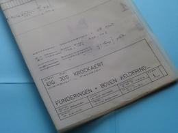MACHELEN HEIRBAAN > Plan 1 + 2 + 3 ( Zie/voir Photo > Arch. Van Den Branden ) Schaal 2 En 5 Cm.p.m. > Anno 1974 ! - Arquitectura