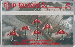 SWITZERLAND - PHONE CARD - °TAXCARD SUISSE  *** AVIONS & LA PATROUILLE SUISSE *** - Suisse