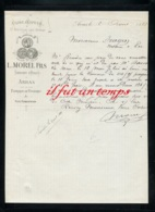 59 ARRAS - USINE A VAPEUR A ST NICOLAS LES ARRAS - L. MOREL FILS - Fabricant D'Huiles à ARRAS - 1888 - France