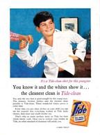 """Pub.1957 TIDE  TIDE-CLEAN Lavage Vêtements """"It's A Tide-clean Shirt For This Yongster... TBE - Publicités"""