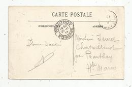 Belle Oblitération Sur Carte Postale , PRAUTHOY , HAUTE MARNE , 1914, 3 Scans - Storia Postale
