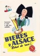 """Pub.1953  Bières D'ALSACE """" Bières De Race !...""""   Illust. Dam TBE - Publicités"""