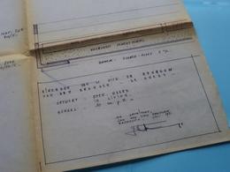 Ontwerp OPEN HAARD In Living ( Zie/voir Photo > Arch. Van Den Branden ) Schaal 10 Cm.p.m. > Anno 1971 MACHELEN ! - Arquitectura