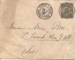 SEMEUSE Sur ENV  OBLI   TOURS LA RICHE - Marcophilie (Lettres)