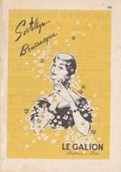 """Pub.1955 LE GALION Parfumeur Paris  """"SORTILEGES...BOURRASQUE """" TBE - Publicités"""