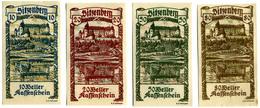 Austria,Sitzenberg (Niederösterreich) Notgeld 10, 20, 50, 80 Heller - Autriche