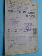 MACHELEN BOSWEG Nr. 15 > WOONHUIS Plan Nr. 1 ( Zie/voir Photo > Arch. Van Den Branden ) Anno 1967 ! - Architecture