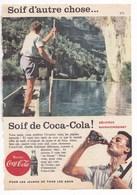 """Pub.1958 COCA-COLA  """"pour Les Jeunes De Tous Les âges..Soif D'autre Chose...Soif De Coca-Cola ! """"  BE - Publicités"""